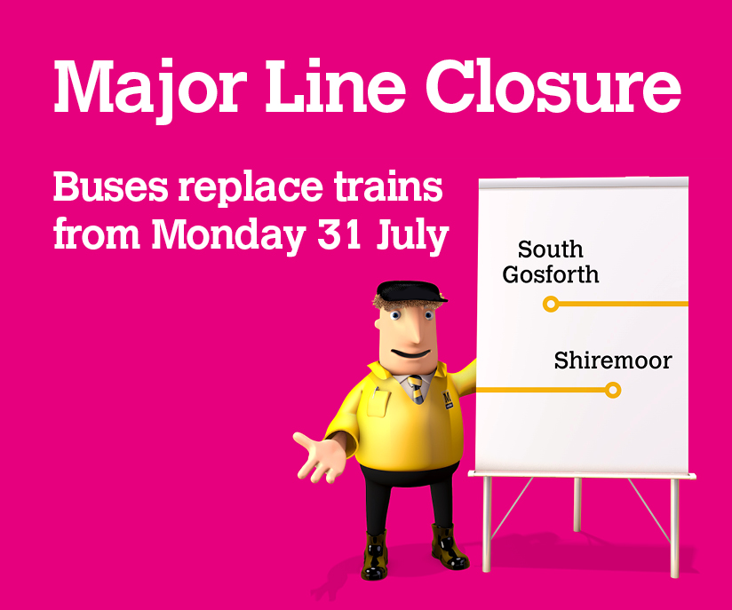 Major line clsoure graphic with Metro Ken