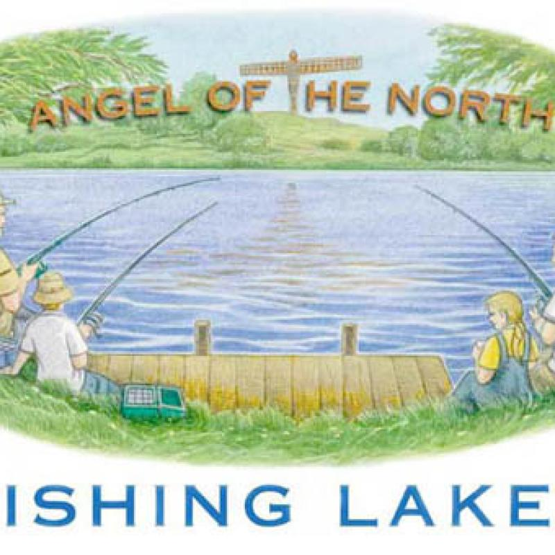 Angel of the North Fishing Lakes logo