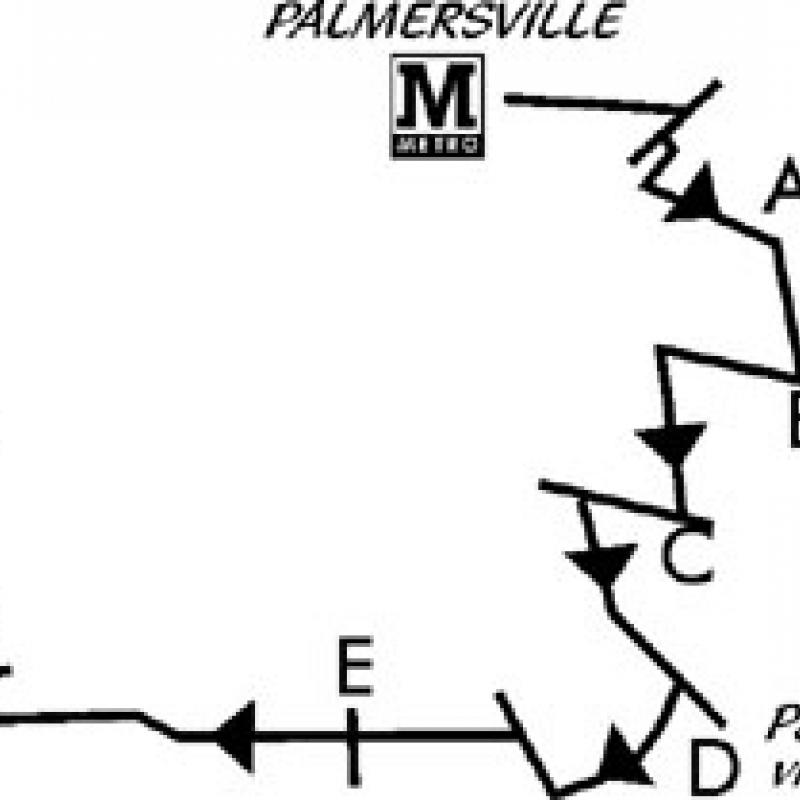 Palmersville to Benton walk map