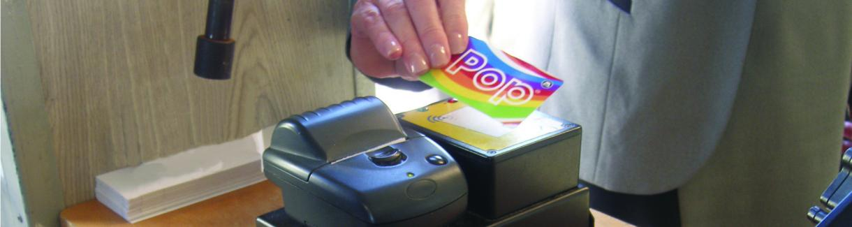 pop card on card reader