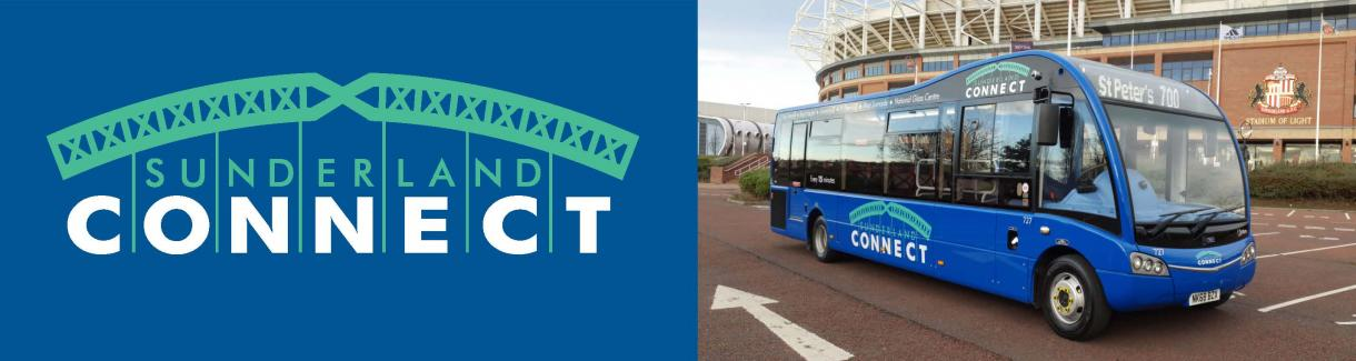 Sunderland Connect bus and logo