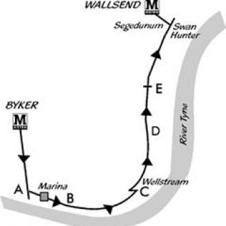 byker to wallsend walk map