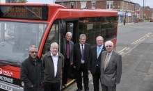 Councillors with 530 bus