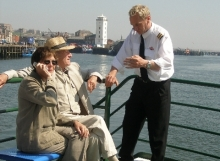 Older couple on shields ferry