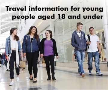 Travel information for young people aged 18 and under