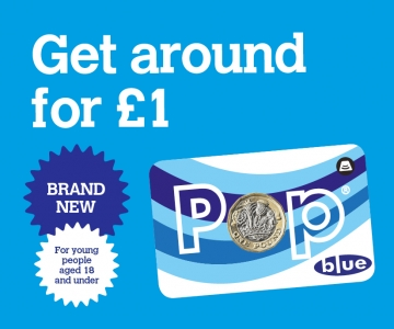 Brand new Pop blue card for under 18s
