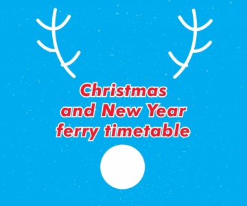 Image of Rudolph - Christmas and New Year ferry timetable