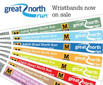 Great North Run wristbands