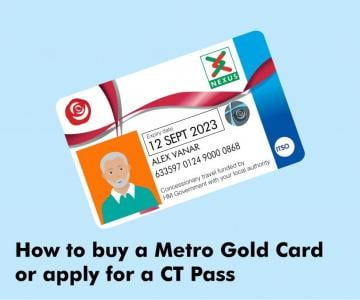 How to buy a Metro Gold Card or apply for a CT Pass