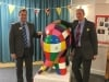 Nexus staff with Elmer the Elephanyt sculpture