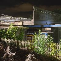 Workmen remove the Killingworeth Road bridge deck