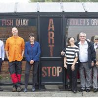 The art stop bus shelter at Fiddler's Green in North Shields