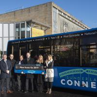 Satekeholders with the new look Sunderland Connect 700 bus