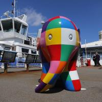 Elmer the Elephant on South Shields Ferry landing