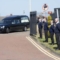 Ferry form a guard of honour for their colleague Ray Millward at his funeral