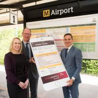 Nexus and Cross Country chiefs launch the new m ticket at Newcastle Airport Metro station