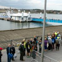 Ferry queue on Great North Run day
