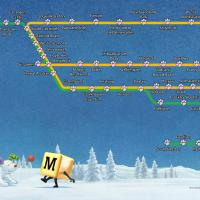 snow dog route map