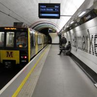Generic image of a Metro train at Haymarket station