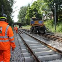 Image of track replacement works
