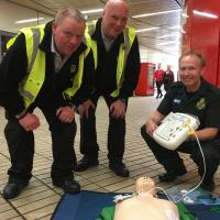 Metro Staff at Monument learn about CPR
