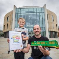 Samuel and Lego architect Steve Mayes