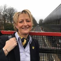 Metro driver Janet Morrison at South Gosforth Metro station