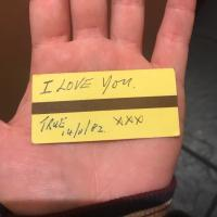 The love note Metro ticket