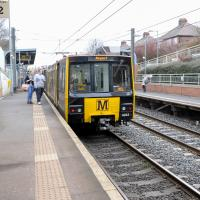 metro train at seaburn station