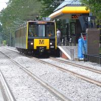 metro train at meadow well station