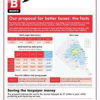 newspaper advert for bus service