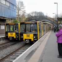trains at south gosforth train station