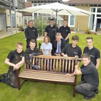Nexus apprentices at St Oswald's Hospice