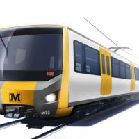 Artists image of future Metro train
