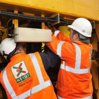 two nexus rail maintenance staff