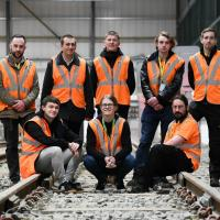 The Nexus apprentices for 2019 at the Newcastle College Rail Academy