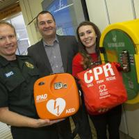The new defibrillator at Monument