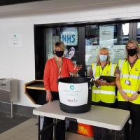 Nexus staff at the food bank collection point at South Shields interchange
