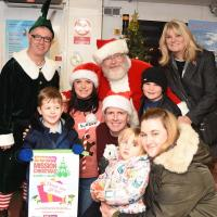 Santa and his helpers on the Shields Ferry