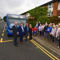 Sunderland Connect partners and residents with the new 702 service
