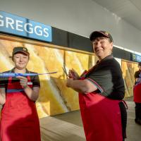 Staff open the new Greggs store in the new South Shields Transport Interchange