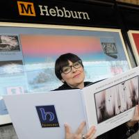 woman at hebburn metro station