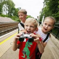 Half term generic image - children on a Metro platform