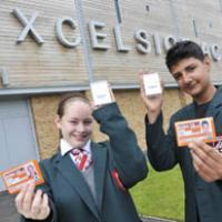 Academy pupils with their new passes.