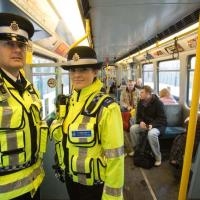 British Transport Police Sunderland on metro