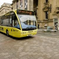 QuayLink bus at Theatre Royal, Newcastle