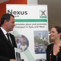 Nexus staff talking to local resident