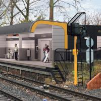 Artist impression of new Howdon Metro Station