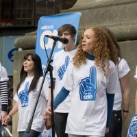 Singers perform at Monument