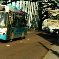 Arriva bus crossing Tyne Bridge